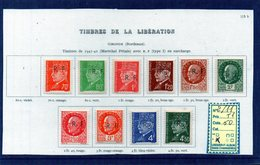 LIBERATION - Bordeaux 2/11 Type 1 - Libération