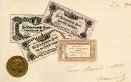 Représentation De Monnaies Nederland Pays Bas Billets Et Pièce En Relief - Monete (rappresentazioni)