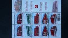 COB F 4056/60** Neuf 2010  - Véhicules Postaux à Travers Le Temps- - Feuilles Complètes