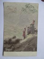 1911    BERGERE ET ENFANTS    -    MASTROANNI     ....            TTB - Nouvel An