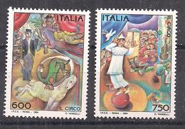 ITALIA  1994 IL CIRCO SASS. 2088-2089 MNH XF - 6. 1946-.. Repubblica