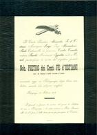 PEDERGNAGA - 1901 - PIETRO FE D'OSTIANI - - AFFRANCATA COL 2 CENT. - Avvisi Di Necrologio