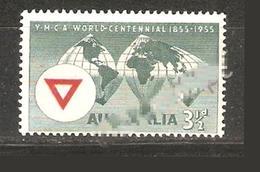 AUSTRALIE 1956 SIÈCLES BOND AU SOL CARTE EMBLÈME TRIANGLE - Australia