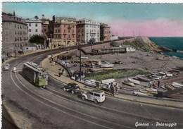 GENOVA-PRIARUGGIA-PASSAGGIO TRAM-CARTOLINA VERA FOTOGRAFIA VIAGGIATA IL 4-8-1958 - Genova