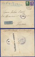 CV 41 – 14.07.1941 – Busta Di Lettera Spedita Per Posta Aerea Da Elbasan In Albania Per Roma. - 9. Occupazione 2a Guerra (Italia)