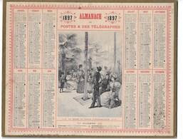 ALMANACH DES POSTES ET TELEGRAPHES 1897:     La Serre Au Jardin D'Acclimatation COMPLET Carte  Vendée - Formato Grande : ...-1900