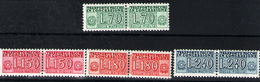 Italia (paquetes Postales) Nº 93A, 101/03. Año 1956/68 - Paquetes Postales