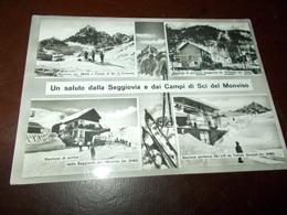 B730  Montagna Monviso Seggiovia Viaggiata Evidente Piega Angolo - Cartoline