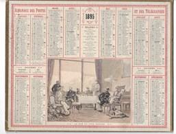 Almanach Des Postes 1895 : Le Thé De Cinq Heures, Ill Aristide Boulineau. COMPLET Carte Vendée. TB état - Formato Grande : ...-1900