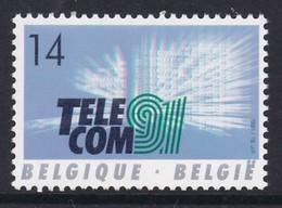 """TIMBRE NEUF DE BELGIQUE - EXPOSITION MONDIALE """"TELECOM'91"""" N° Y&T 2427 - Telecom"""