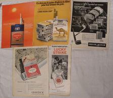 Pages Magazines Années 60/70 Theme Tabac - Materiel Du Fumeur - Objets Publicitaires