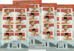 Indonesia 2002, People, 4x Set Of 4v + 4x Sheetlet, MNH** - Indonésie