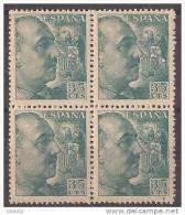 ES1050-B045TAN.España Spain.Espagne .General  FRANCO Y CID.1048/53. (Ed 1050**BL4) Sin Clarnela LUJO - 1951-60 Nuevos & Fijasellos