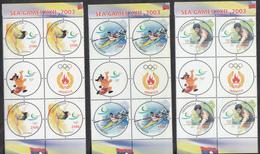 Indonesia 2002, SEA Gams XXII, 4x Set Of 3v, MNH** - Indonesien