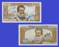 France 5000 Franc 1958 - Francia