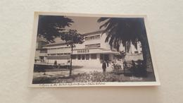 ANTIQUE PHOTO POSTCARD PORTUGAL FIGUEIRA DA FOZ - JARDIM E ESTAÇÃO DOS CORREIOS CIRCULATED NO STAMP 1949 - Coimbra