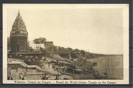 India, Round The World Cruise:Temple On The Ganges, Hamburg-Amerikalinie, 1914. - Inde