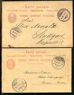 Schweiz / 1888 Ff. / 4 Postkarten O, Stempel ! (19117) - Interi Postali