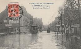 Souvenir Des Inondations à Nantes (Janvier 1910) - Le Boulevard Sébastopol - Nantes
