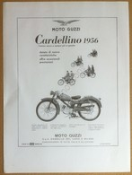 Pubblicità Advertising - Motoguzzi Cardellino 1956 - Rifilatura Da Rivista - Pubblicitari