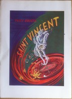 Pubblicità Advertising - Casinò Saint Vincent - Firmata Borzone - 1956 - Pubblicitari