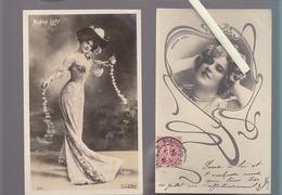 Spectacle / Artiste / Lot De 2 CPA / Manon Loty / Photos Reutlinger - Entertainers