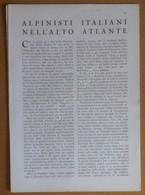 Alpinisti Italiani Nell'Alto Atlante - Da Rivista Le Vie Del Mondo Anni '20 - Vecchi Documenti