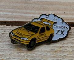 Pin's / Pins / Thème : Automobile / Citroën / ZX / CAMEL, TOTAL, MICHELIN - Citroën