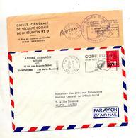 Lettre Flamme Saint Denis Saint Pierre Code Postale - Reunion Island (1852-1975)
