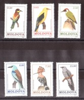 Moldavie - 1992 - N° 10 à 15 - Neufs ** - Oiseaux - Moldova