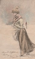 Cartolina - Postcard /  Viaggiata - Sent /  Donnina. - Paintings