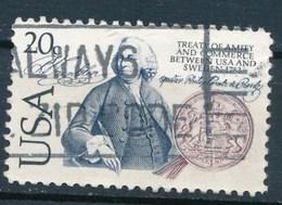USA 1983 Mi. 1615 Gest. Handel USA - Schweden Wappen Löwe - Etats-Unis