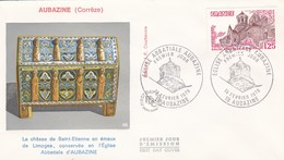 FRANCE 1978 FDC EGLISE ABBATIALE AUBAZINE YT 2001 - 1970-1979
