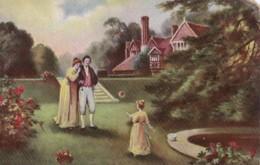 "AL65 Romance - Couple In Garden, ""Bubble"" - Couples"