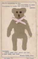 AL65 Novelty, Applique - Teddy Bear - Early UB - Fancy Cards