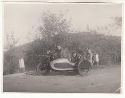 MOTO MOTORCYCLE SIDECAR NON IDENTIFICATO - FOTO ORIGINALE - Foto