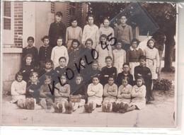 45 Melleroy ( Loiret ) - AGRANDISSEMENT D'une Photo De Classe Ecole De Melleroy Groupe 1  1930 ? - Papier Photo KODAK - Autres Communes