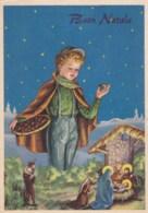 AM14 Christmas Greetings -  Italian, Nativity Scene - Christmas