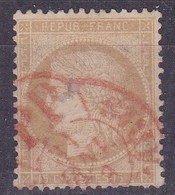 France - Yvert N° 59 Oblitéré Càd Rouge Des Imprimés - Marcophilie (Timbres Détachés)