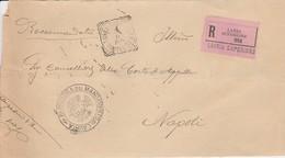 Lauria Superiore 1908. Annullo Tondo Riquadrato LAURIA SUPERIORE (POTENZA) + Annullo PRETURA, Su Franchigia R - 1900-44 Victor Emmanuel III