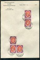 """Deutsches Reich / 1920 / Mi. 110 5x A.Briefpapier """"Nationalversammlung"""", Steg-Stempel Berlin-Nationalversammlung (19136) - Briefe U. Dokumente"""