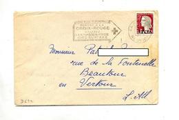 Lettre  Flamme Saint Denis Pensez Croix Rouge - Reunion Island (1852-1975)