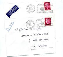 Lettre  Flamme Saint Denis Timbre à Surtaxe Croix Rouge - Reunion Island (1852-1975)