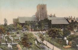 AN24 Parish Church, Folkestone - C1908 Postcard - Folkestone