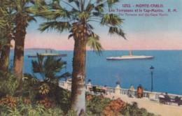 AN24 Monte Carlo, Les Terrasses Et Le Cap Martin - Animated, People, Ship - Monte-Carlo