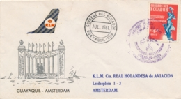 Ecuador / Nederland - 1961 - First Flight KLM Guayaquil - Amsterdam - Luchtpost