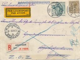 Nederland / Indië - 1929 - R-cover Met 6e Proefvlucht Naar Djokjakarta En Retour Met 4e Terugvlucht, Door Naar Montreux - Luchtpost