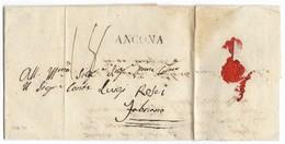 DA ANCONA A FABRIANO - 20.11.1834 - INTERESSANTE TASSAZIONE. - Italia