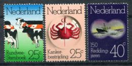 Niederlande 1974 Mi. 1032-1034 Postfrisch 100% Kultur, Tiere - Period 1949-1980 (Juliana)