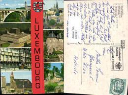 622241,Mehrbild Ak Luxembourg Pont Adolphe Theatre Municipal - Ansichtskarten